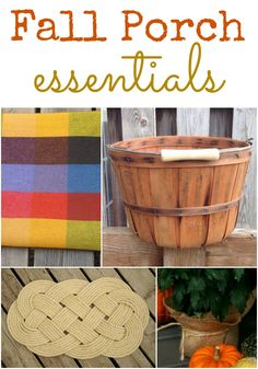 Fall Porch Essentials - DIY Burlap Covered Mums