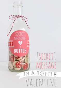 40+ DIY Valentine Gift Ideas for Boyfriends & Husbands - Secret Message in a Bottle - DIY Valentines Gifts for Him