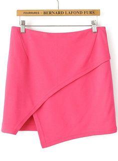 Red Casual Asymmetrical Bodycon Skirt 15.00 // wear everywhere