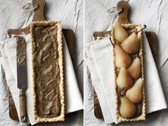 Riesling Poached Pear Tart with Chai Spiced Custard & Almond Crust — Roost