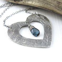 Heart Jewelry Valentine Jewelry Necklace London by JenniferCasady, $89.00