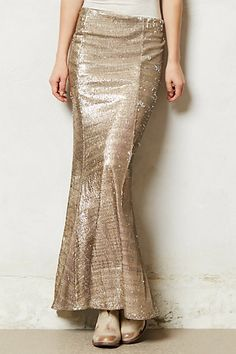 sirene sequin skirt / anthropologie