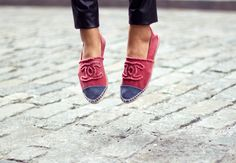 Chanel Espadrille Flats