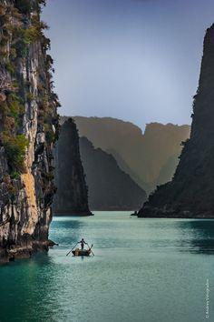 Alone in Ha Long Bay, Vietnam