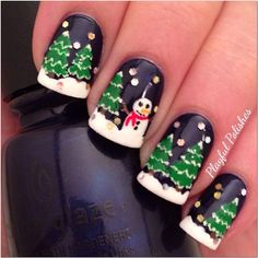 snowman by playfulpolishes #nail #nails #nailart