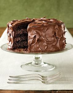 Rich Chocolate Layer Cake-seriously this might be my last meal request.  With a cappuccino...