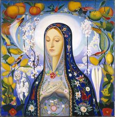 """""""The Virgin"""" by Futurist Joseph Stella (American, born Italy, 1877-1946), painted in Italy, 1926, Brooklyn Museum"""
