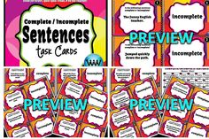 $3. This product includes 24 task cards aligned with TEKS and common core standards for English/language arts/writing. Questions include a sentence or phrase, and students must answer whether it is a complete or incomplete sentence. Instructions are included for 4 methods of review: 1) task cards review in centers/groups/pairs/individuals, 2) a SCOOT game, 3) a Quiz-Quiz-Trade game, and 4) a Be the Teacher game.