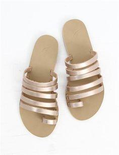 Ancient Greek Sandals Niki- Metal Sand