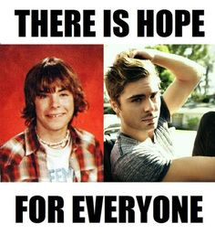 shorter hair, god, middle school, giggl, funni, future husband, zac efron, hallway, motivational posters