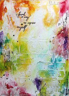 art journal page by Ronda Palazzari