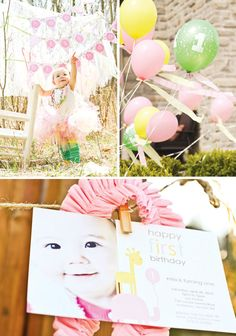 Pink Safari Birthday for girls... Love this, especially the thumbprint canvas idea ..,