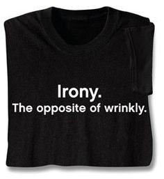 Irony :P