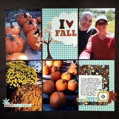 I love fall - Scrapb