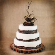Rustic Wedding Cakes | Rustic Wooden Bird Nest Cake topper | Rustic Cake Toppers | Wedding ...