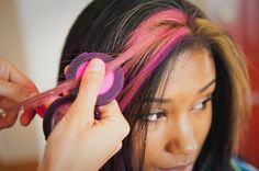 TINT Hair Chalk™ - Simply rub TINT into the desired lock  and seal it with hair spray.