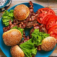 StufZ Presents: Grilled Brie-Stuffed Burgers with Bacon