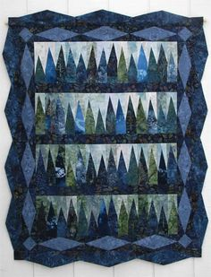 Blue Spruce Quilt Pattern ME-113 (intermediate, lap and throw)