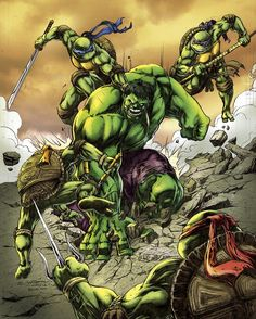 The Hulk vs. TMNT
