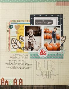 Memory Keeping Monday : to the point - layout and video tutorial by Lisa Truesdell - Two Peas in a Bucket #scrapbooking