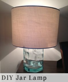 Look for Less – DIY Jar Lamp | Everyhomeisacastle.com