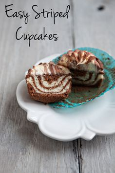 Easy Striped Cupcakes