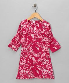Take a look at this Fuchsia Birdie Dress - Infant & Toddler by Alejandra Kearl Designs on #zulily today!