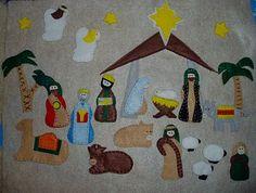 Felt Nativity Advent