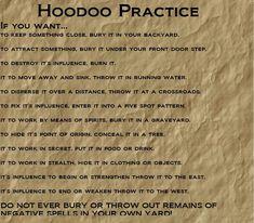 Hoodoo magic