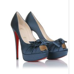 Christian Louboutin Madame Butterfly 150 Satin Pumps