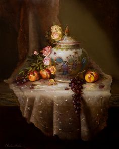 Lace, Asian by Christine Hooker Oil ~ 20 x 16