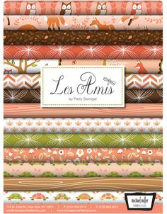 Les Amis Fabric Collection by Patti Solinger for Michael Miller- coral colorway