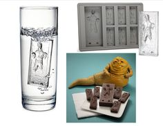 Star Wars Han Solo in Carbonite Ice Cube Tray ... The fact that it will also work with chocolate would be a big hit with the kids because they could make their own Han Solo chocolate bars.