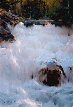 sierra waterfall   by jeremy lipking