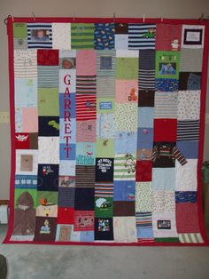great quilt from baby clothes
