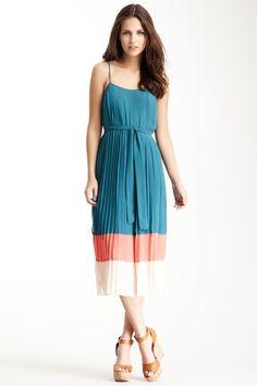 Colorblock Pleat Dress on HauteLook