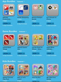 If you need to load up the tablet, check out the new App Store bundles that offer big savings on groups of favorite apps.