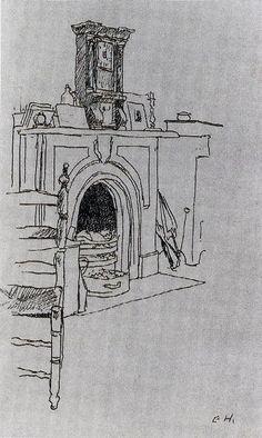 Edward Hopper (1882-1967)  Fireplace at Hopper's New York Apartment -