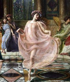 "Sir Edward John Poynter's painting, ""The Ionian Dance."""