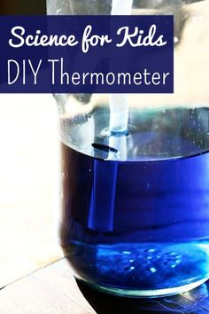 science project for kids: homemade bottle thermometer  . Activity to go with Apologia Chemistry & Physics for K-6. #homeschool