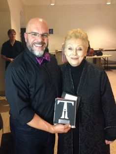 TDF Costume Collection Director Stephen Cabral presents the NY Innovative Theatre Award for Outstanding Costume Design to Gail Cooper-Hecht.