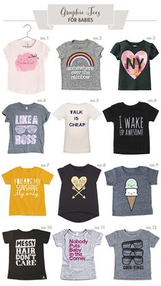 Graphic-Tees for Babies