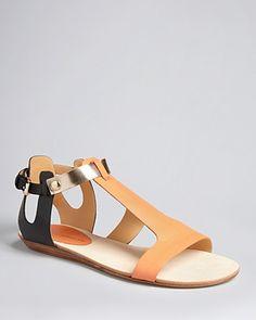 fashion, style, minkoff flat, rebecca minkoff, shoe goddess, flat sandals, minkoff sandal, tan