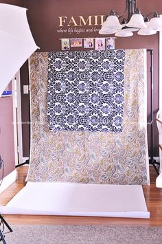Fabric makes for beautiful backdrops that won't break the bank!