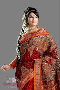 Check out this exquisite piece of bridal paithani with patch skirt work done with resham, mirror and jari...    Ladies shop one for yourself this Paithani Utsav only at Roop Sangam Saree Showroom, Mumbai  *For Details visit : http://www.roopsangam.in/