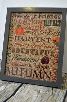 Fall Subway Burlap Printable #autumn