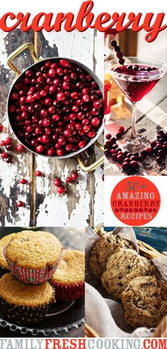 50+ AMAZING Cranberry Recipes | a Round Up | FamilyFreshCooking.com @Marla Meridith