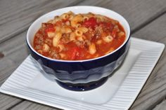 Old Standby Hamburger Soup similar to how my Mother used to make.