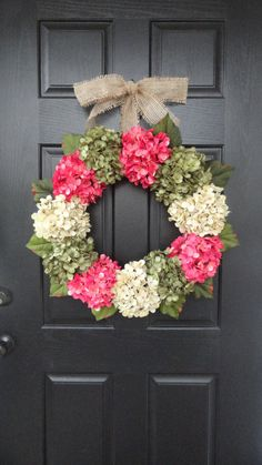 Large Full Customizeable Hydrangea Door by AnnabelleEveDesigns,