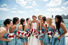 love the colors.. 4th of july wedding.